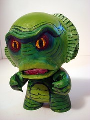 """Munny From The Black Lagoon (Lino M) Tags: atlanta art monster painting movie diy you going kidrobot eat cult to martins lino creaturefromtheblacklagoon motelhell munny """"we are mintgallery"""