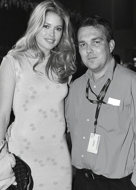 Me with Doutzen Kroes at LMFF 2009 by Global Photographics