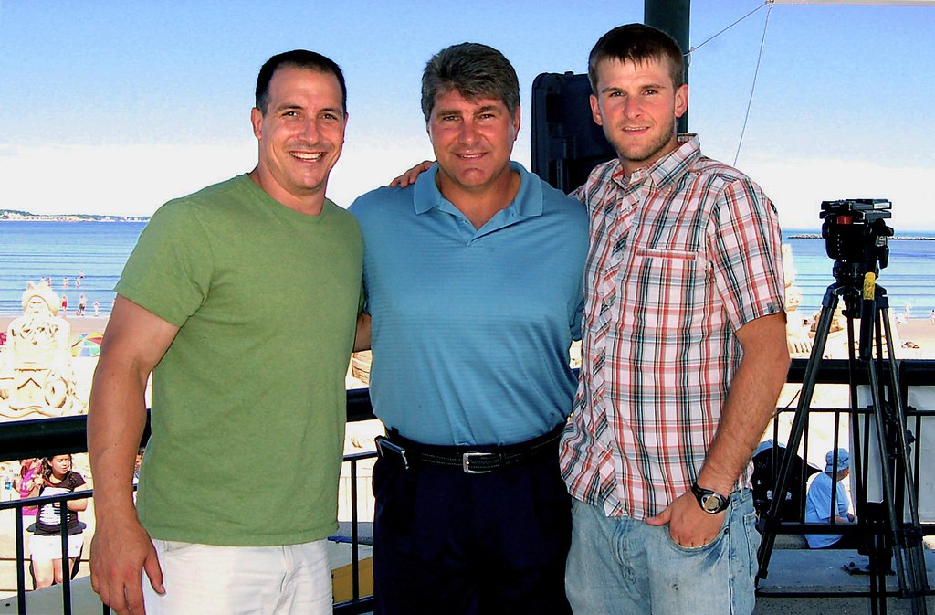 Aaron and Adam with Ray Bourque on Revere Beach - July 7, 2007