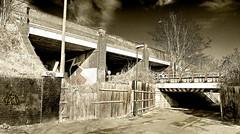 Urban (Mark Watson (kalimistuk)) Tags: nottingham uk bridge urban underpass subway lumix graffiti tags gritty panasonic 24mm dmc lx3
