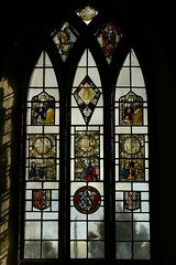 Medieval stained glass panels - Stanford-on-Avon