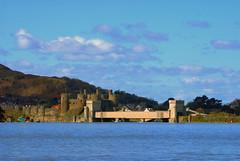 Conway castle and Bridge (Jeffpmcdonald) Tags: castle wales conway silverjubileebridge mar09