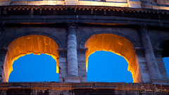 Colosseum Dusk Arches (Sean Molin Photography) Tags: city rome roma heritage scale beautiful soldier european roman landmark colosseum huge coliseum epic colossal gladiator wonderoftheworld vacationeuropeitalyrome2009marchvacationitalli vacationeuropeitalyrome2009marchvacationitallian seanmolin wwwseanmolincom