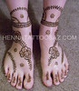 Wedding rose vine henna tattoo