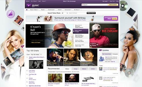 Yahoo! Music Homepage