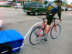 Santa Cruz bike courier