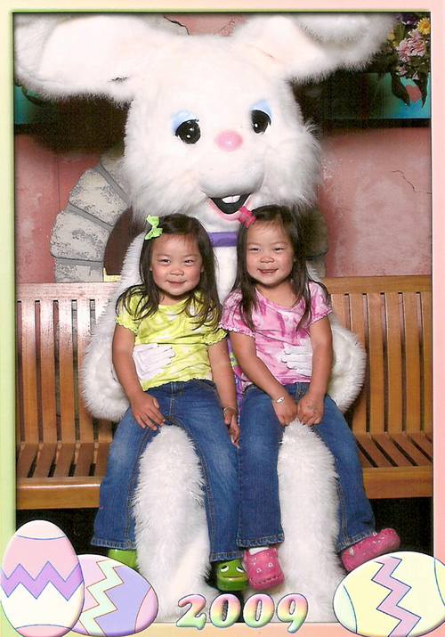So excited to see the Easter Bunny!