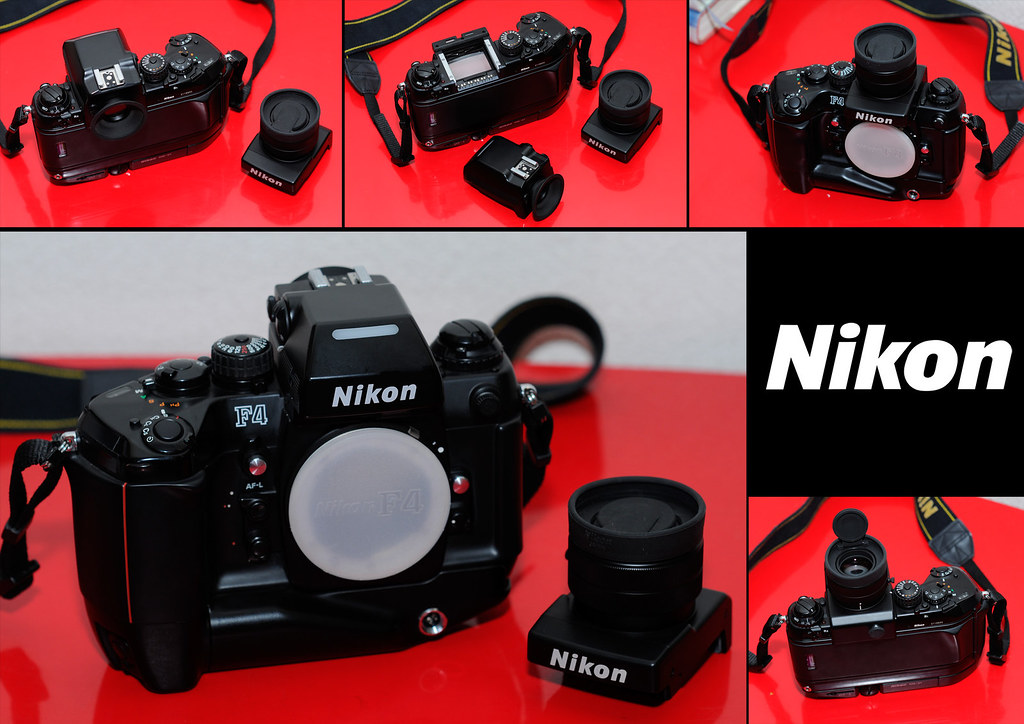 New toy: Nikon F4S with DP-20 and DW-21 finders