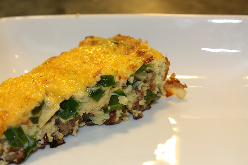 Collard Greens and Brown Rice Frittata