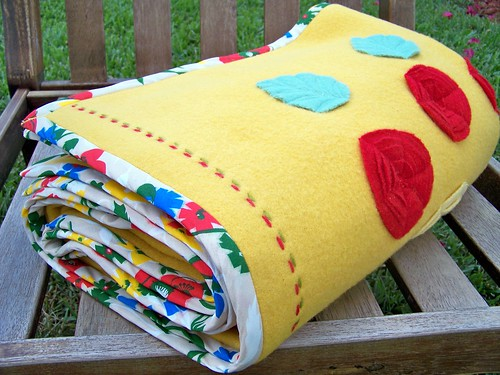 Yellow Blanket Throw Rolled by you.