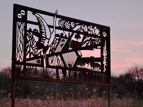 """Prairie Tapestry No. 1: Crane Clangor"" by Glenn Wolff"