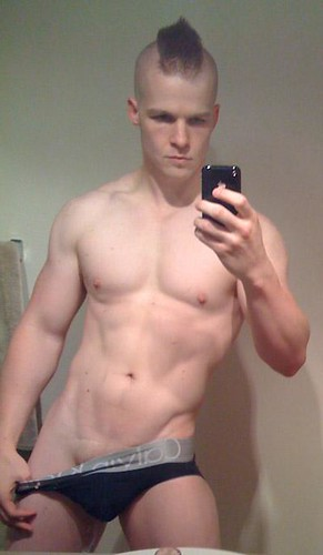 Hot guy with iPhone