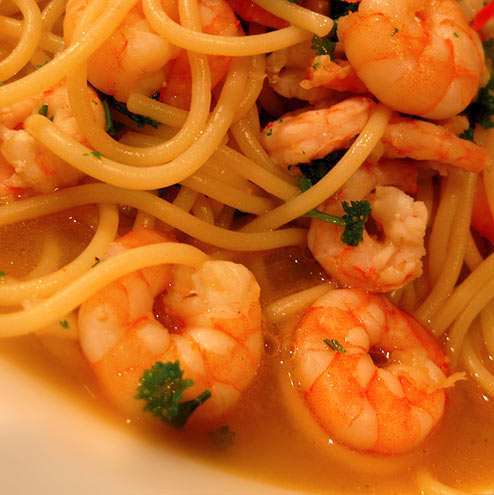 Linguine with Prawns