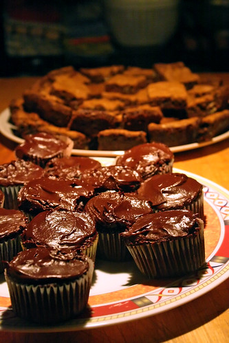 Brownies and Stuffed Cupcakes