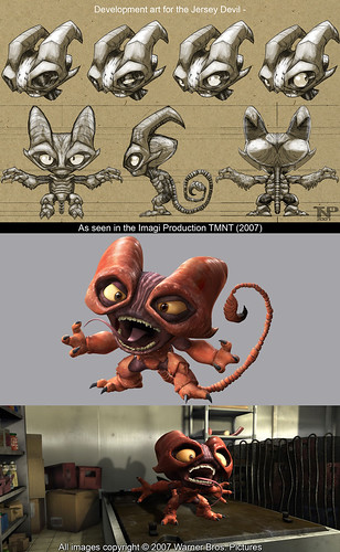 The art of ' TMNT '  :: Jersey Devil   ..Development designs  by Thomas Perkins (( 2005 - 2007 )) [[ Courtesy of Perkins ]]
