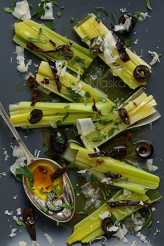 Leek in vinaigrette