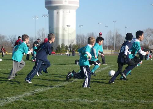 Carson at an early season soccer game