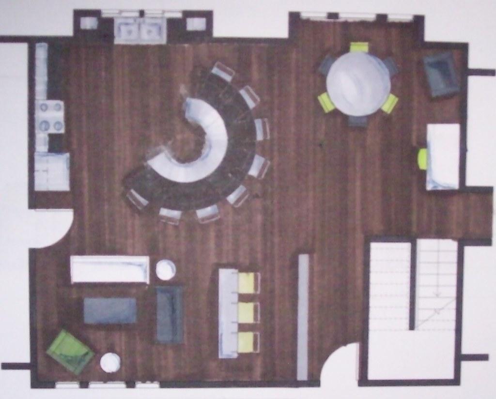 Int Des I: 'Great Room' Floor Plan