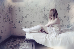 (yyellowbird) Tags: selfportrait abandoned girl hospital lights bed peeling paint cari michaelreese