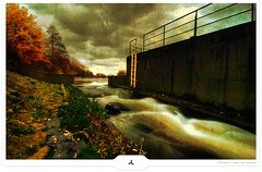 Backstream (Gert van Duinen) Tags: wonderful river germany stream shot dam digitalart landschaft 2009 landschap emsland niedersachsen dutchartist lathen theems landschaftsaufnahme cresk theunforgettablepictures gertvanduinen