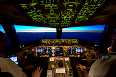 In-flight B777 (oOcekaOo [Catchin' up]) Tags: sky cloud sun motion france night clouds speed plane sunrise canon airplane eos fly flying inflight twilight view angle dusk aircraft aviation air flight wide sigma aerialview cockpit aerial atlantic boeing rise 1020mm 777 nuit airliner avion airfrance atlantique boeing777 sigma1020mm b777 400d boeingb777