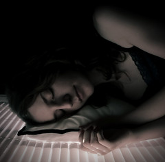 C is for Closeness (c4vansite) Tags: pink light me window girl shadows sleep andrea c calm pillow blinds alphabet closeness