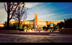Matinee (isayx3) Tags: sky cinema texture 35mm movie nikon theater bokeh pov low shift movies nikkor f18 edwards tilt d3 matinee dx cineplex