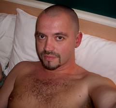 man 034-1 (SkinHH) Tags: gay feet goatee skin smoking hairylegs skinhead