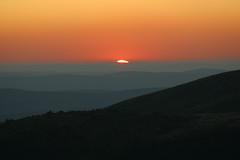 Coucher de soleil sur le Mont Lozère (Cévennes)