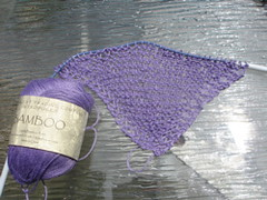 bamboo shawl start