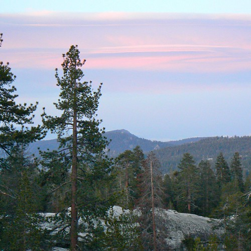 Sunset in Sequoia National Forest