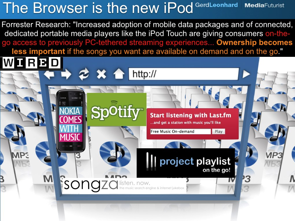 The Browser is the new iPod: access replaces ownership