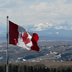 Happy Canada Day (njchow82) Tags: trees mountains calgary clouds landscape scenic alberta canadianflag canadaday patriotism ocanada rockyridge july1 beautifulexpression dmcfz18 njchow82 yearofholidays 142ndbirthday