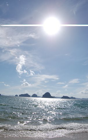 Sun over Hong Islands