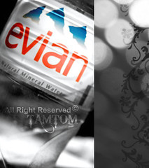 кoόкıı ♥ ... . (Tamtom♥,) Tags: blue red black water fun 33 gray iloveyou evian dedicated ♥ mineralwater kooki loveyew tamtom