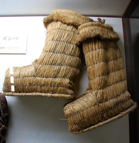straw boots, takayama