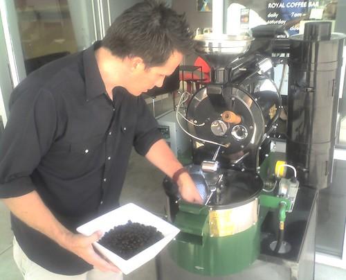 Hayes roasting at Royal Coffee Bar