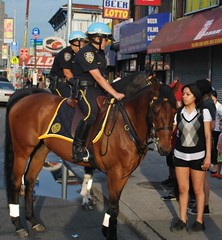 CONEY ISLAND NYPD PHOTOS BY GORDON GATTSEK (Gordon Gattsek) Tags: summer nycpd boadwalk brooklynsouth cipbc coneyislandpolarbearclub newyorkcitypolicedept pbbs photosbygordongattsek 60pct nypdmounted laststopo60