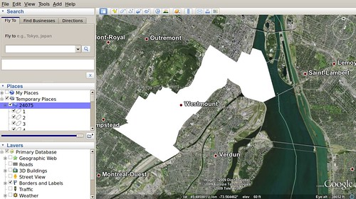 Polls on Google Earth / Westmount--Ville-Marie