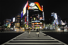 hurrying-up in Ginza