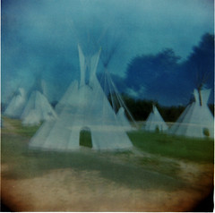 You're the First Day of My Life (Dead  Air) Tags: sky blur grass manipulated washington holga indian surreal nativeamerican dreams armageddon dreamlike campground sonicyouth toppenish teepees postapocolyptic ghostbitch yakamatribalcenter