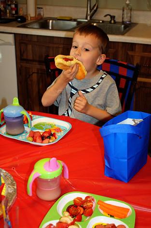 Nathan-eating-his-dog