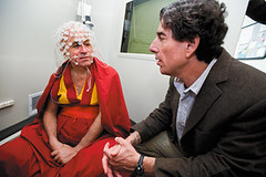 Richard Davidson with monk
