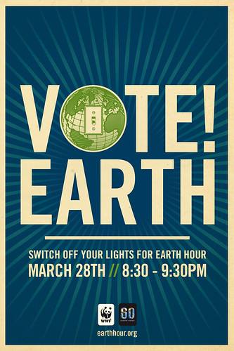 Vote Earth! Switch Off Your Lights For Earth Hour by Shepard Fairey by Earth Hour Global.