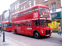 Arriva AEC Routemaster JJD 492D (type and flee...