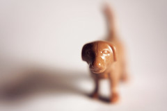 plastic puppy (jspad) Tags: shadow dog macro lensbaby toys plastic outtake playmobil composer