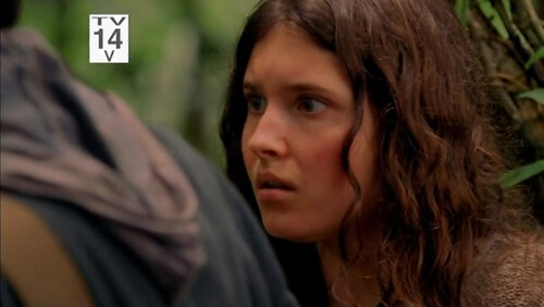 Melissa Farman asustada Lost