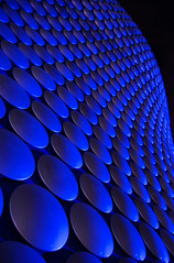 Selfridges' Blue Smarties (le-spikey) Tags: lighting blue detail building by architecture night outside birmingham stu shot architectural selfridges repetition lit bullring birminghamuk selective meech colorsofthenight