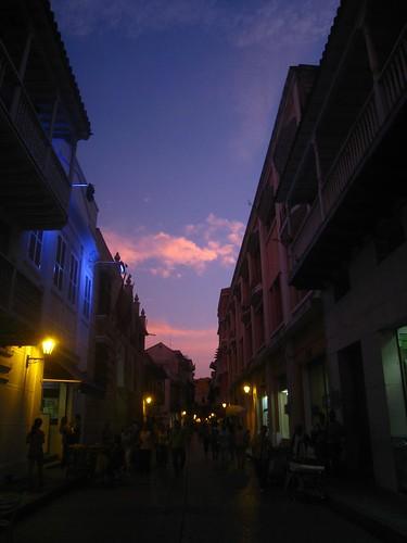 Sunset within old Cartagena