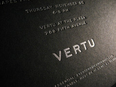Men's Vogue Vertu Boutique Letterpress